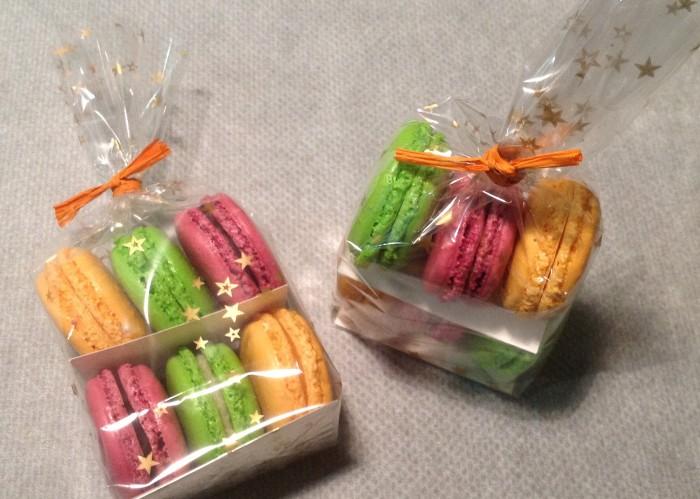 Mes macarons dans un sachet pour offrir