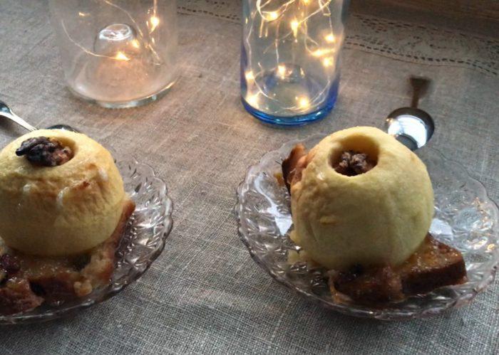 présentation-des-pommes-dans-les-assiettes